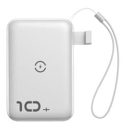 Baseus Mini S powerbanka s bezdrôtovým nabíjaním 10000 mAh, biela