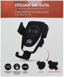 Mobilnet univerzálny držiak s bezdrôtovým nabíjaním Qi 10W, čierna