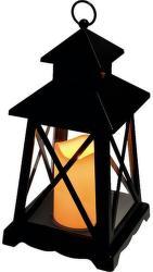 SOMOGYI LTN 3 čierny lampáš s LED sviečkou