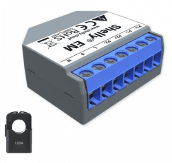 Shelly EM 120A WiFi merač spotreby+120A svorka