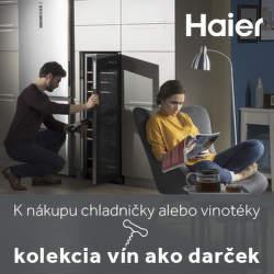 Kolekcia vín ako darček k spotrebičom Haier