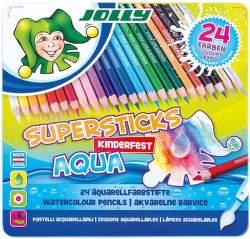 Jolly Supersticks Aqua 24 farbičiek