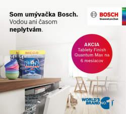 Balíček Finish ako darček k umývačkám riadu Bosch