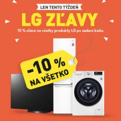 10% zľava na všetky produkty LG