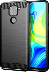 Winner Carbon puzdro pre Xiaomi Redmi Note 9, čierna