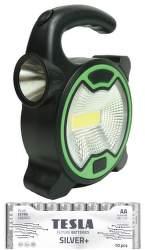 Power+ LED ručné svietidlo +10 ks batérii AA