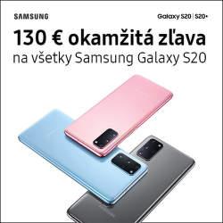 130 € okamžitá zľava na Samsung Galaxy S20