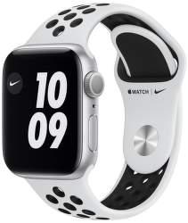Apple Watch Nike Series 6 40 mm strieborný hliník s čierny športovým remienkom