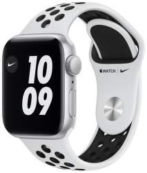 Apple Watch SE Nike 40 mm strieborný hliník s platinovo čiernym športovým remienkom Nike