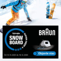 Vyhrajte snowboard za nákup parného generátora Braun