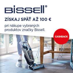 Cashback až do 100 € na vysávače Bissell