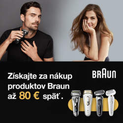 Cashback až do 80 € na produkty Braun