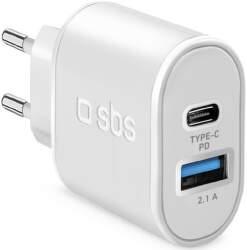 SBS USB/USB-C adaptér 20 W biela
