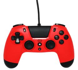 Gioteck VX4 Premium Wired Controller 3,5mm Audio port (PS4/PC) červený