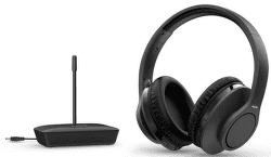 Philips TAH6005 čierne bezdrôtové TV slúchadlá