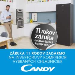 11-ročná záruka na kompresor chladničiek Candy
