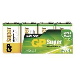 GP SUPER 6LF22 9V 4 ks alkalické batérie