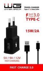 Winner Fast USB 2 A čierna 1 m USB-C kábel
