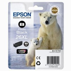 EPSON T2631 26XL photo black (ľadový medveď) - atrament