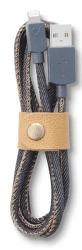 Cellular Line LongLife lightning kábel (jeans)