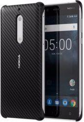 NOKIA Carbon Fibre Design puzdro pre Nokia 5, čierna