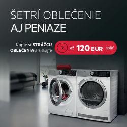 Cashback až do 120 € na práčky a sušičky AEG