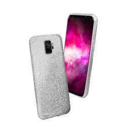 SBS Sparky Glitter puzdro pre Samsung Galaxy S9, strieborná