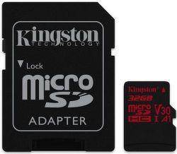 Kingston Canvas React microSDHC U3 UHS-I 32 GB + adaptér