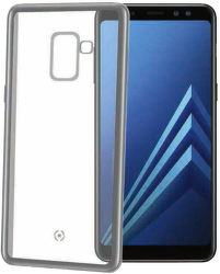 Celly Laser puzdro pre Samsung Galaxy A8 2018, strieborná