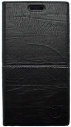 Mobilnet Luxury knižkové puzdro pre Galaxy A3 2017, čierne