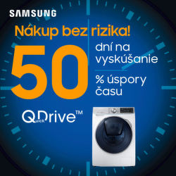 50 dní záruka vrátenia peňazí na práčky Samsung