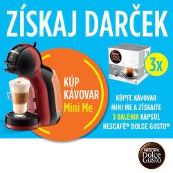 Darček ku kávovarom Krups Nescafé Dolce Gusto