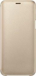 Samsung Wallet Cover puzdro pre Samsung Galaxy J6, zlatá