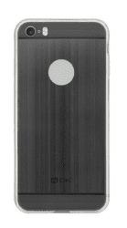 4-OK Metal Cover puzdro pre iPhone SE/5, čierna