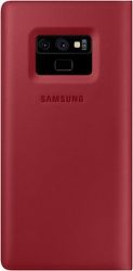 Samsung Leather knižkové puzdro pre Samsung Galaxy Note9, červená