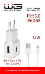 Winner nabíjačka + dátový kábel Lightning pre iPhone 5/6 (biela)