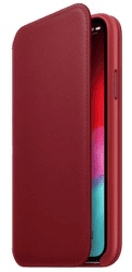 Apple kožené puzdro Folio pre Apple iPhone XS, (PRODUCT)RED