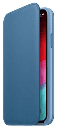 Apple kožené puzdro Folio pre Apple iPhone XS, modrošedá