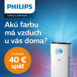 Cashback 40 € na čističky vzduchu Philips