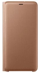 Samsung Wallet Case knižkové puzdro pre Samsung Galaxy A7 2018, zlatá