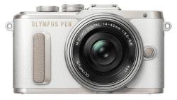 Olympus PEN E-PL8 bielo-strieborný + 14-42 EZ