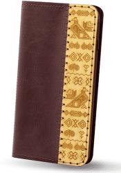 Red Ant knižkové puzdro pre Apple iPhone 8 a 7 edícia Čičmany, bordová
