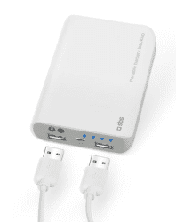SBS powerbanka 7800 mAh, biela