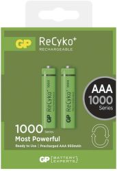 GP ReCyko+ 1000 HR03 (AAA), 2 ks - nabíjacie batérie
