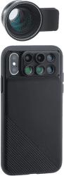 ShiftCam 2.0 Pro Lens + teleobjektív Pro Lens pre iPhone X, čierna