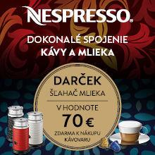 Darček ku kávovarom Nespresso