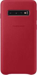 Samsung Leather Cover pre Samsung Galaxy S10, červená