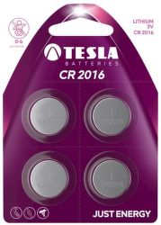 TESLA CR2016 4ks, litiová batéria