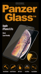 PanzerGlass EdgeToEdge tvrdené sklo pre Apple iPhone Xs a X, čierna