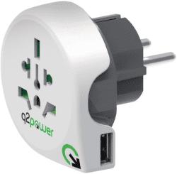Q2 Power World - Europe + USB, cest. adaptér